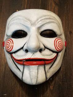 Anonymous The Saw Movie Puppet Custom Mask Hand Painted Guy Fawkes – My Anon Store Joker Mask, Clown Mask, Halloween Clown, Halloween Face Mask, Thanos Face, Cool Masks, Creepy Masks, Angel Devil Tattoo, Joker Photos
