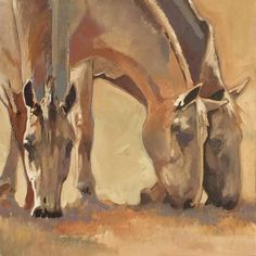 """""""Just a Quiet Moment"""" 20x20 acrylic on canvas horse on pasture"""