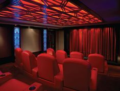 Home Theater lighting and design by Dennis Erskine. Home Theater lighting and design by Dennis Erskine. Home Design, Home Theater Design, Küchen Design, Home Theater Lighting, At Home Movie Theater, Home Theater Rooms, Scenic Design, Home Cinemas, Art Deco Era