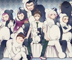 """Ah I can't .@,/8-, Ahhanazkdhah why the heck is Gundam just smiling like he has taken them over. I imagine he is thinking: """"Yes, come with me, slaves of the bikini'd monotone bear! WE SHALL ENSLAVE THE WORLD!!!"""" And of course Hanamura is totally okay with this @u@"""