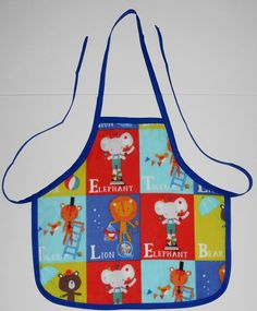 Check out this item in my Etsy shop #toddler #apron https://www.etsy.com/listing/203359736/toddler-handmade-zoo-animals-apron