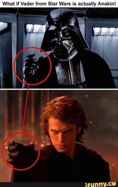 That would be a real plot twist wouldn't it? I left that part, it wasn't actually me who did the hashtags but, we all know that Anakin Skywalker was Darth Vader. WAS Darth Vader, he was then redeemed because of his son, Luke Skywalker Simbolos Star Wars, Star Wars Jokes, Star Wars Facts, Gi Joe Film, Prequel Memes, Star Wars Images, Star Wars Wallpaper, Star Wars Characters, Chewbacca