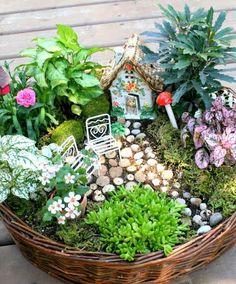 einen hübschen Minigarten gestalten