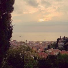 I miss this little town sometimes. But it's its people I miss most. And looking down the edge of the castle walls on the cliff. #piran