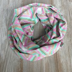 Bright Aztec Print Silky Infinity Scarf by TheBlueDodo on Etsy