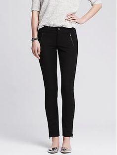 Sloan-Fit Cropped Zip Legging   Banana Republic #21StepsStyleCourse
