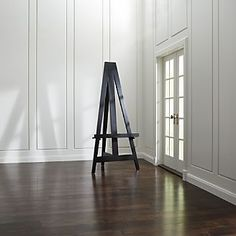 Large Wood Easel - Crate and Barrel Country Interior Design, Apartment Interior Design, Wooden Easel, Wooden Wall Art, Painted Wood Walls, Black Wall Art, Unique Home Accessories, Wood Home Decor, House In The Woods