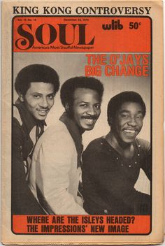 Soul — America's Most Soulful Newspaper, December 22, 1975 — The O'Jays. Ive never come across this magazine before.. R