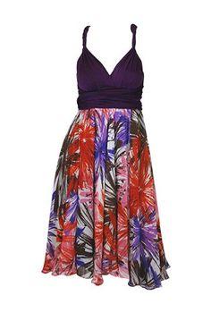 Short Chiffon Skirt / Dress Femme Floral