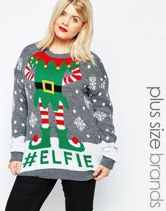 Immagine 1 di Club L - Maglione natalizio taglie comode con elfo