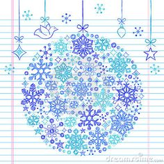 Hand-Drawn Sketchy Doodle Snowflake Ornament by Blue67, via Dreamstime
