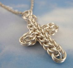 chain mail cross tutorial