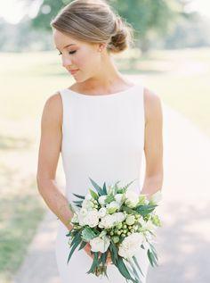 Sydney was so stunning on her wedding day! Perfect Wedding Dress, One Shoulder Wedding Dress, Simple Weddings, Real Weddings, Wedding Gowns, Wedding Day, Wedding Things, Theia Bridal, Devon