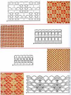 ARTESANATO FOFO: Croche - Pontos de Crochê com Gráfico