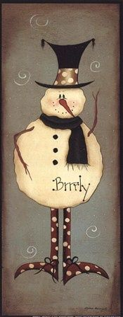 Mini-Brrrly ~ Fine-Art Print - Christmas Art Prints and Posters - Christmas Pictures Christmas Signs, Christmas Pictures, Christmas Snowman, Winter Christmas, Christmas Decorations, Christmas Ornaments, Snowman Crafts, Christmas Projects, Holiday Crafts