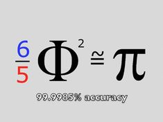 The relationship between Phi and Pi. The snowflake and flower. Golden Ratio, Golden Rule, Math Formulas, Love Math, E Mc2, Teaching Math, Maths, Math Humor, Math Numbers