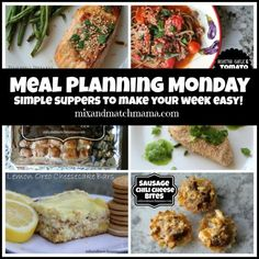 Meal Planning Monday #177