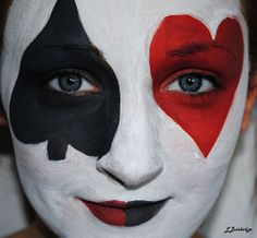 cards from alice in wonderland makeup | Alice in Wonderland Inspired Make Up