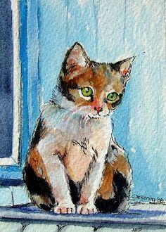 Astrid   ACEO original watercolor ✿ www.christydekoning.etsy…   Flickr #watercolorarts