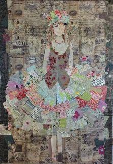 The Dress Collage Pattern by Laura Heine | Laura Heine | Quilt Patterns | Fiberworks Online Quilt Shop