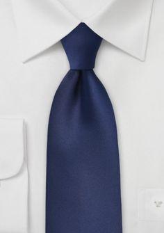 Clipkrawatte nachtblau Poly-Faser