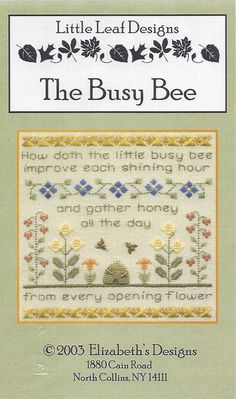 Clearance  The Busy Bee Counted Cross Stitch by SusansStitcheryInc, $6.00