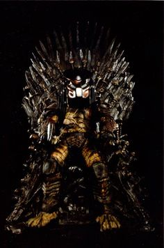Hunter On The Iron Throne by PedroTpredator on DeviantArt