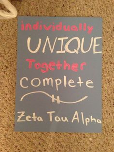 Zeta Tau Alpha sorority craft big little with Delta Zeta instead