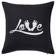 Love Cushion with your Babys' Real Footprint Printed Cushions, Footprint, Babys, New Baby Products, Colours, Unique, Prints, Collection, Women