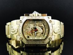 Mens Aqua Master Jesus Face Diamond Watch W#323