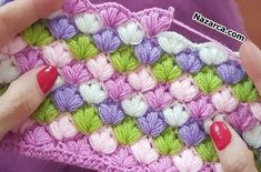 This puff stitch crochet blanket has the most interesting pattern I have encountered! It pops out on both sides of the work and has a cool look and feel. mantas Puff Stitch Crochet Blanket Easy To Make Easy Crochet Blanket, Crochet Afghans, Crochet Yarn, Crochet Flowers, Crochet Cowel, Granny Stripe Crochet, Crochet Squares, Crochet Stitches Patterns, Knitting Patterns