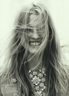 Lara Stone in Vogue Netherlands May 2012 shot by Josh Olins