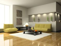 Luxurious Living Room Design With Funky Seating