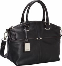 Tignanello Polished Pocket Convertible Satchel Black - via eBags.com!