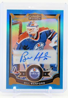 Bill Ranford BR Blue Rainbow OPC Signature Auto Autographed Signed Oilers #EdmontonOilers