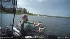 """Justin Trimm shares his watermark on Wabamun Lake. Together with friends, Justin is a weekend warrior and enjoys catch and release fishing for walleye and northern pike in moonlight bay off of Wabamun Lake. """"It's not always just whether you catch a fish, it's just the scenery you get to see as well,"""" says Gordon. He likes to paddle find the more remote areas of the lake where there aren't as many people. Only 40 minutes from Edmonton, it is a great place to bring the family to go swimming…"""