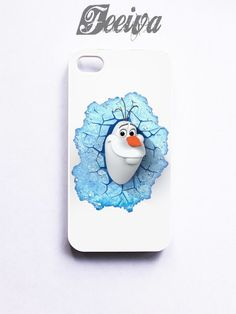 Olaf In A Cracked Ice Frozen Disney Phone Cases For iPhone, Samsung, S | Feeiva