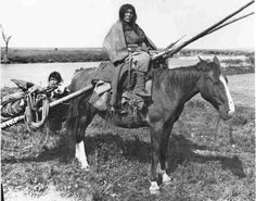 Cree woman & child near Saskatoon, 1902