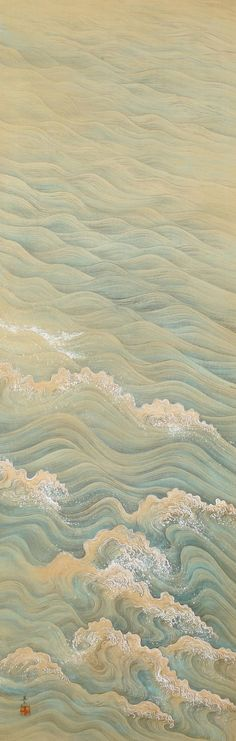 Painting of Waves by Takata Kiseki | From a unique collection of antique and modern paintings and screens at https://www.1stdibs.com/furniture/asian-art-furniture/paintings-screens/