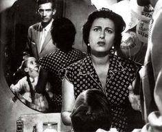"""Anna Magnani, Walter Chiari e Tina Apicella in """" Bellissima """" di Luchino Visconti ( 1951 )"""