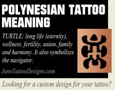 polynesian symbol meaning turtle - junotattoodesigns