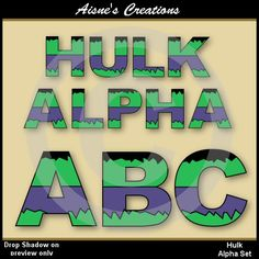 Hey, I found this really awesome Etsy listing at https://www.etsy.com/listing/183334722/hulk-alphabet-clip-art-set