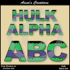 Hey, I found this really awesome Etsy listing at https://www.etsy.com/listing/183334722/hulk-alphabet-clip-art-set