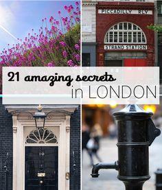 21 Amazing secrets of London