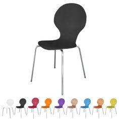 Stapelstuhl Bistrostuhl Stuhl Esszimmerstuhl Küchenstuhl Design Metall Holz stapelbar sehr belastbar Marcus (Schwarz): Amazon.de: Küche & Haushalt