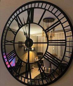 Real Mirror Wall Clock Extra Large Wall Clock Black Color | Etsy Mirror Wall Clock, Wood Mirror, Big Wall Clocks, Large Wall Mirrors, Arch Mirror, Extra Large Wall Clock, Home Clock, Diy Clock, Black Clocks