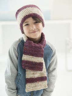 Next Generation Children's Hat And Scarf - Free Crochet Pattern