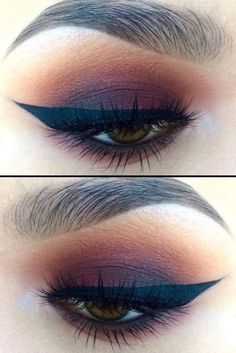 Little Burgundy eye makeup look, with makeup products list, winged eyeliner tutorial, smokey eyes makeup, eyeshadow and lipstick colours, party makeup
