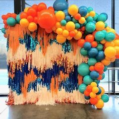 Fringe Backdrop photoop ideas : Streamers art is one of our favourite things to do fringebackdrop and colourful balloons a bright decor and little bit of glam letssetup with ovationeventsnrentals call 9987874663 tasselwall photoopidea photo ovationenr pho Birthday Balloon Decorations, Birthday Backdrop, Birthday Balloons, Birthday Party Decorations, Party Themes, Themed Parties, Ideas Party, Halloween Decorations, Streamer Backdrop
