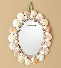 Seashell-framed Mirrors